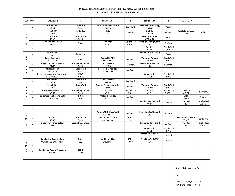 JadwalTari102