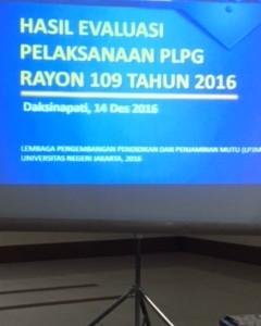 Rapat Hasil Evaluasi Pelaksanaan PLPG Rayon 109 Tahun 2016 bagi Instruktur PLPG FBS UNJ