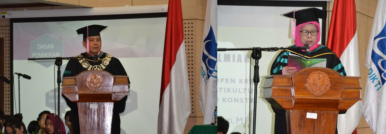 PENGUKUHAN GURU BESAR TETAP UNJ PROF. DR. ACENG RAHMAT, M.PD DAN PROF. DR. ZURIYATI, M.PD.