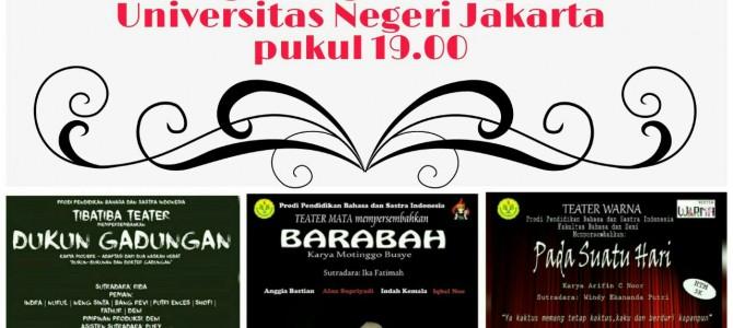 Parade Teater Prodi Pendidikan Bahasa dan Sastra Indonesia FBS UNJ