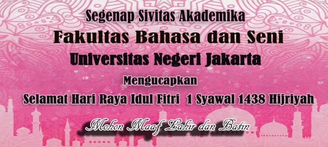 Selamat Hari Idul Fitri 1 Syawal 1438 Hijriyah