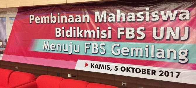 Pembinaan Mahasiswa Penerima Beasiswa Bidikmisi FBS UNJ