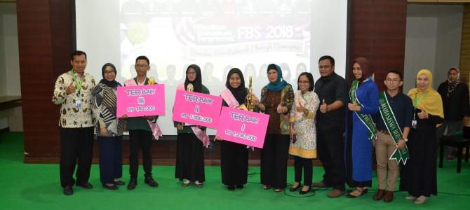 Pemilihan Mahasiswa Berprestasi Tingkat Fakultas 2018