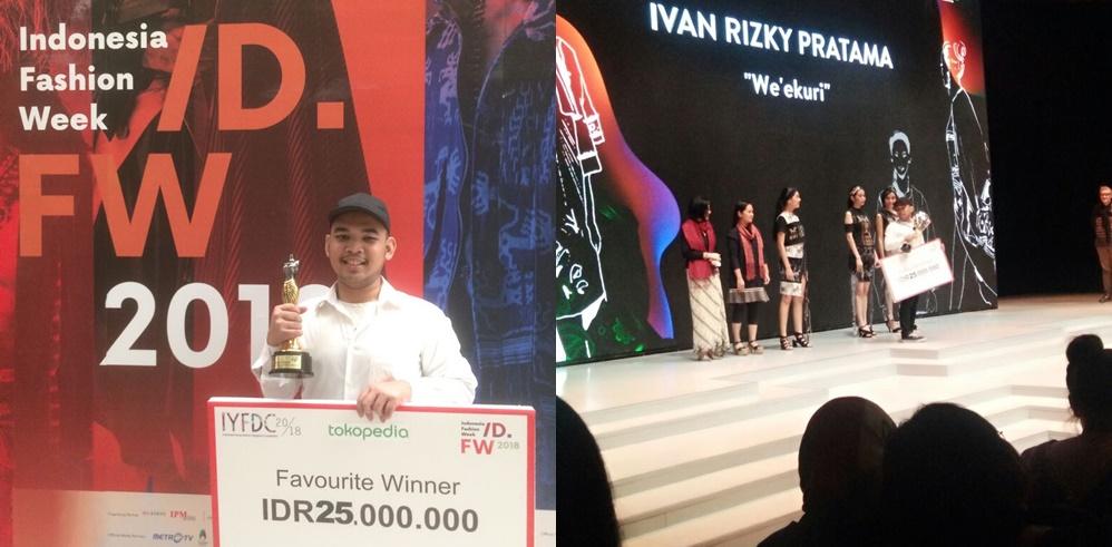 Ivan Rizky Pratama, Mahasiswa Seni Rupa yang Dinobatkan Sebagai Favorite Winner dalam Ajang Indonesia Young Fashion Designers Competition 2018