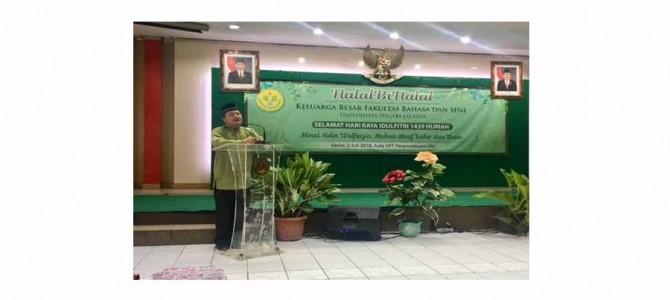 Halalbihalal Keluarga Besar Fakultas Bahasa dan Seni UNJ