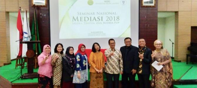 """Seminar Nasional Hiski UNJ """"Mediasi 2018: Sastra, Tradisi, dan Budaya Pop"""""""