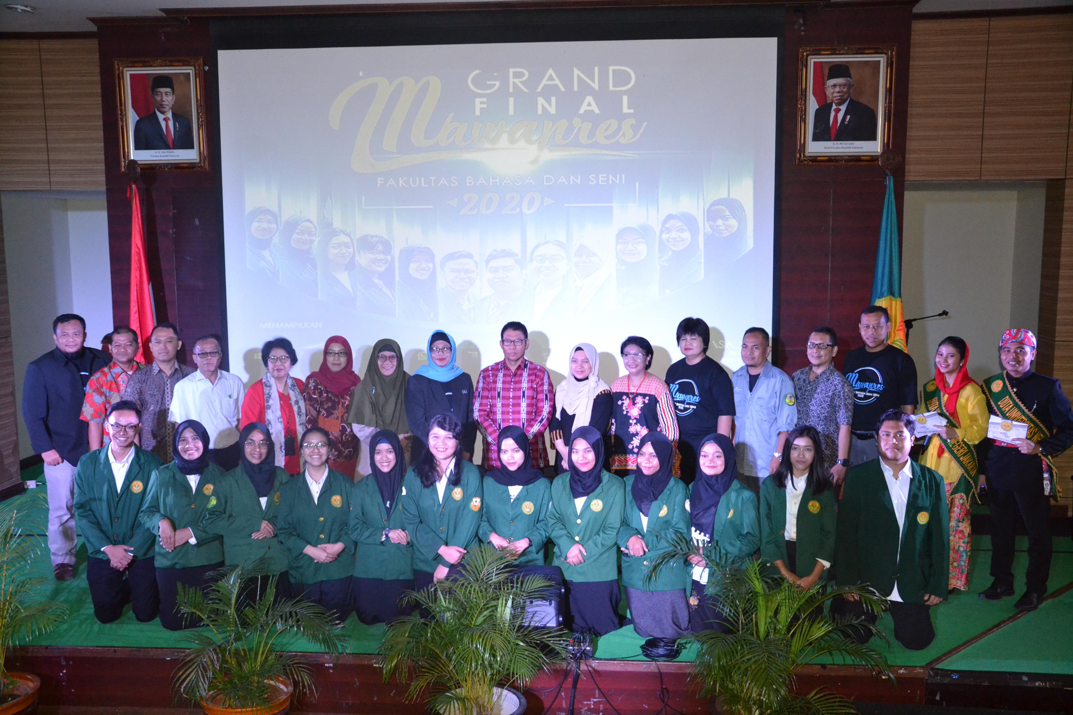 Grand Final Pemilihan Mahasiswa Berprestasi Fakultas Bahasa dan Seni 2020