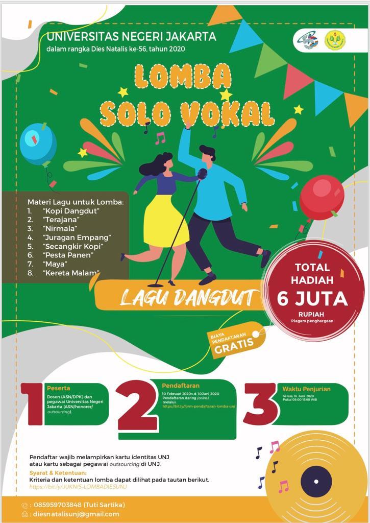 Penjurian Lomba Solo Vokal dalam Rangka Dies Natalis ke-56 Universitas Negeri Jakarta