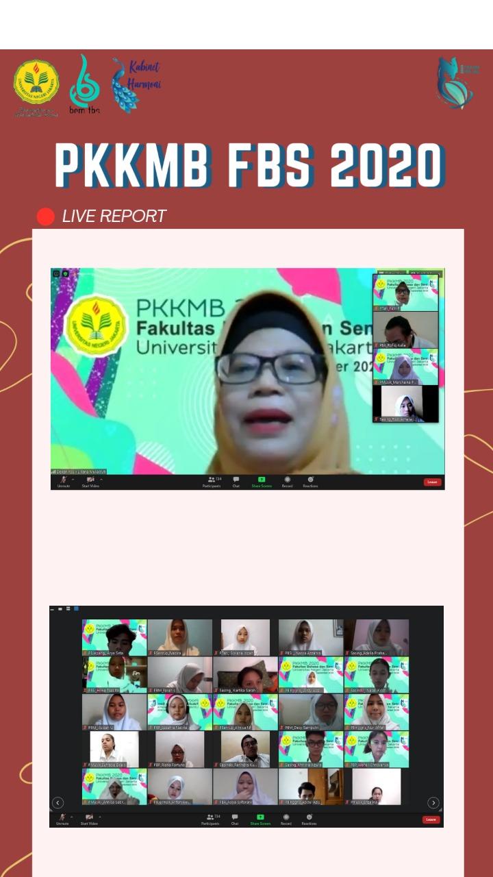 Pengenalan Kehidupan Kampus Mahasiswa Baru  Fakultas Bahasa dan Seni Universitas Negeri Jakarta Tahun 2020