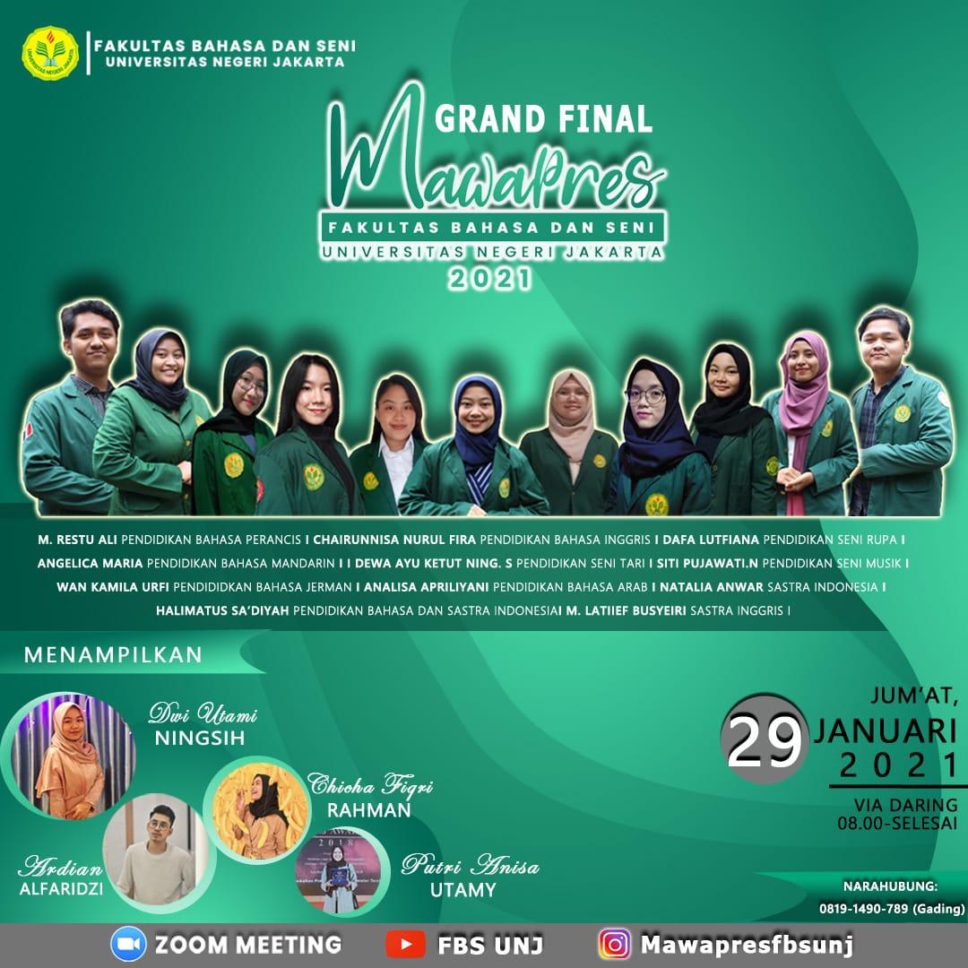 Grand Final Pemilihan Mahasiswa Berprestasi Fakultas Bahasa dan Seni Universitas Negeri Jakarta