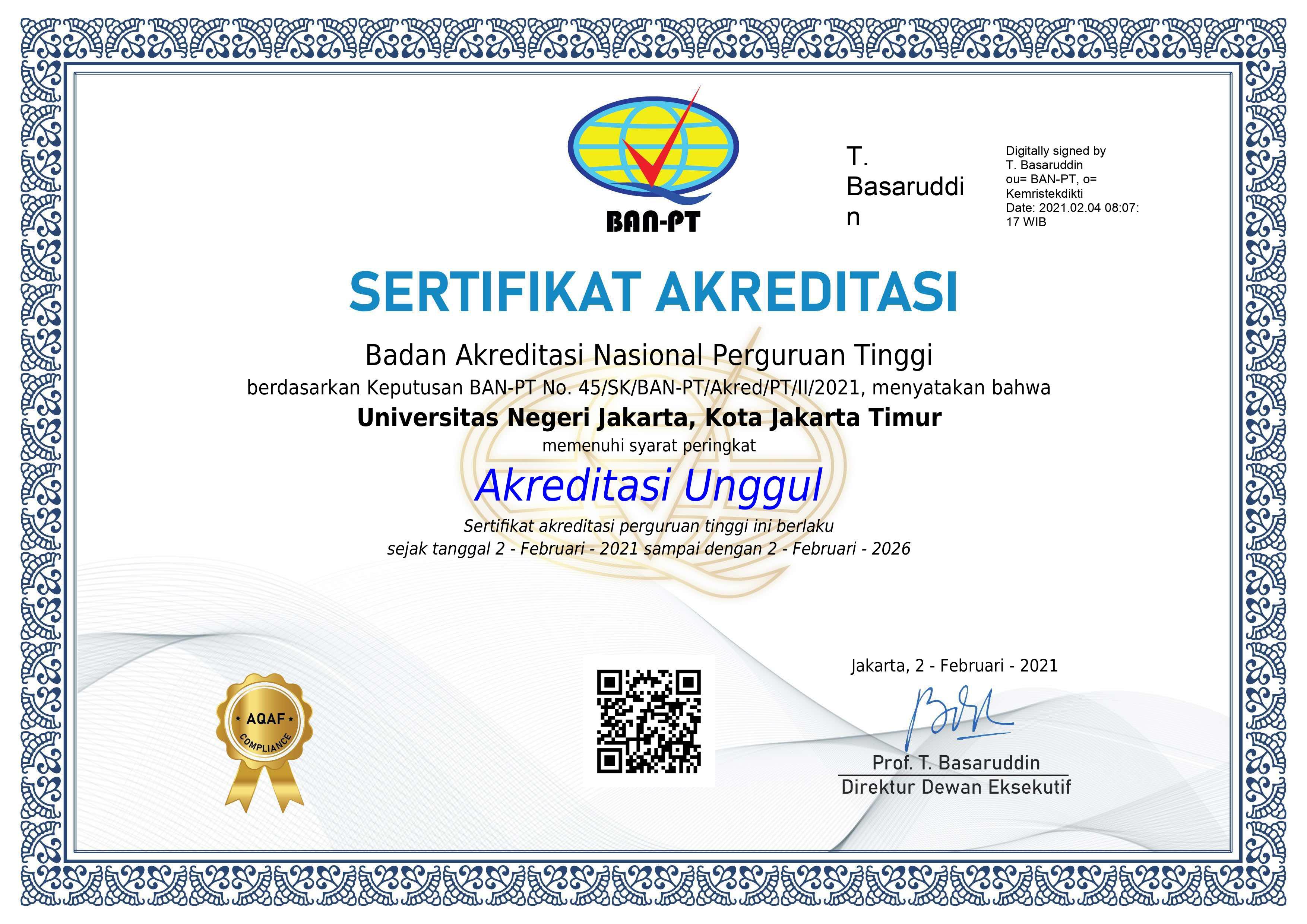 Raih Akreditasi UNGGUL, Universitas Negeri Jakarta Berpacu dalam Prestasi