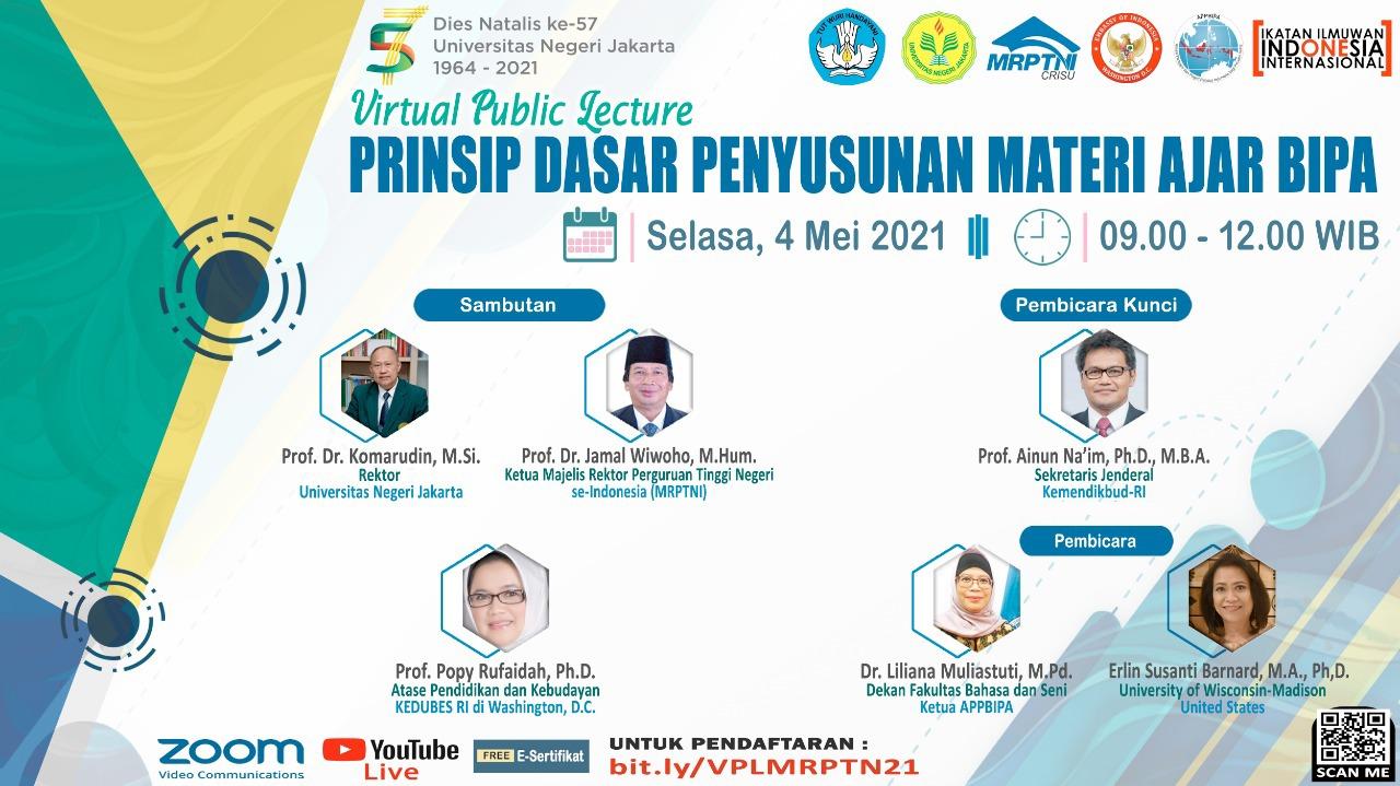 """Serunya Diskusi tentang """"Prinsip Dasar Penyusunan Materi Ajar BIPA"""" dalam Virtual Public Lecture II, Majelis Rektor Perguruan Tinggi Negeri."""